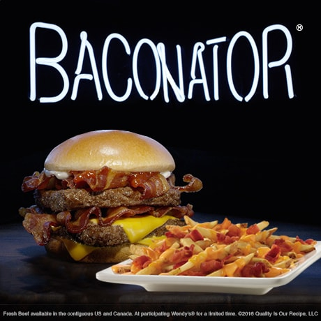 Wendy's Baconator and Baconator Fries