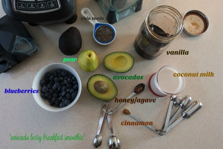 avocado berry smoothie ingredients
