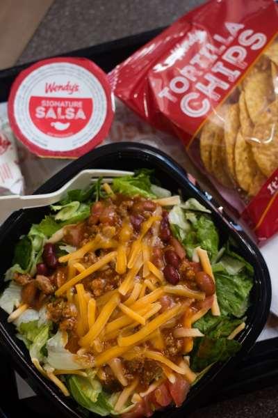 wendys taco salad is back