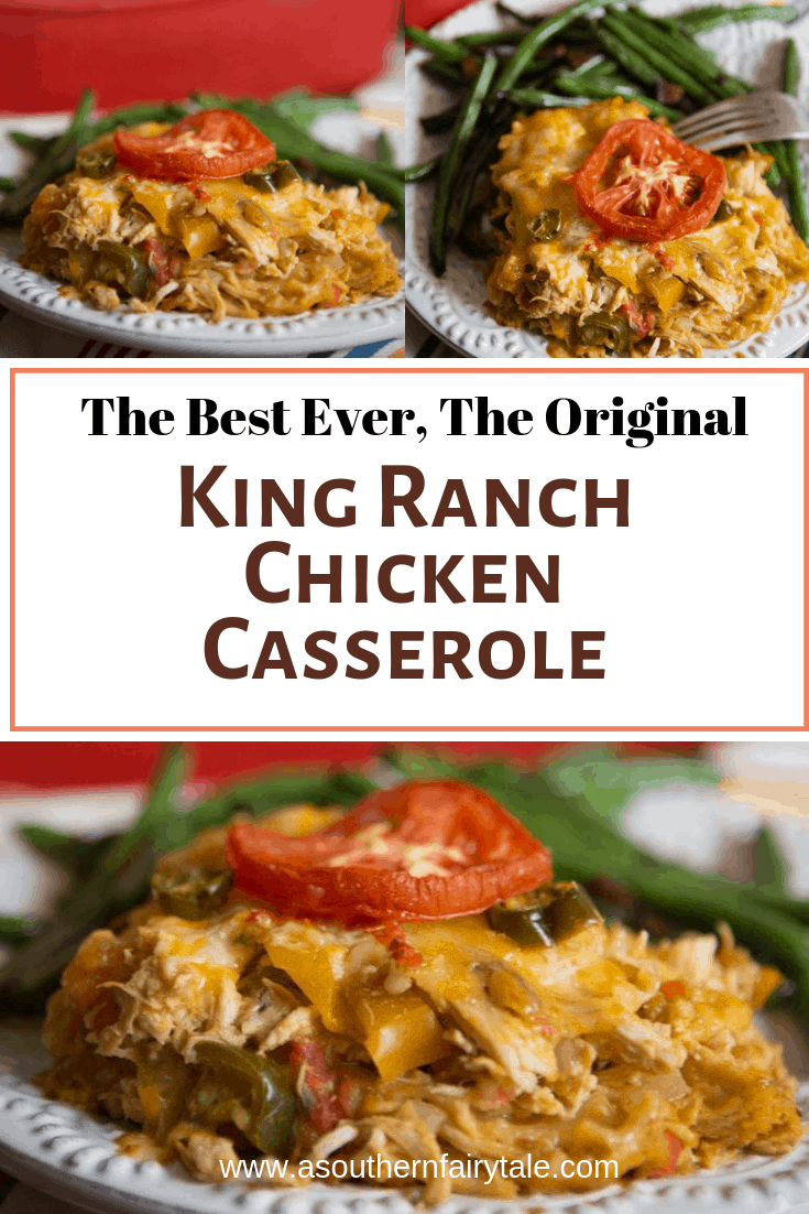 King Ranch Chicken Casserole--- This is the best king ranch chicken recipe ever, it's cheesy, spicy, crunchy. This is the most requested recipe from my restaurant days | asouthernfairytale.com #kingranch #casserole #comfort food