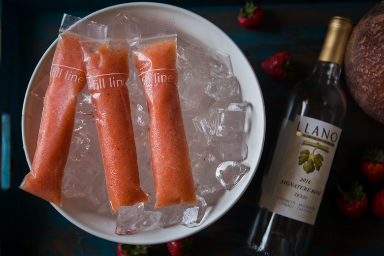 frozen wine popsicles