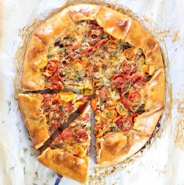 Three Cheese Thyme and Tomato Galette from Taste and See