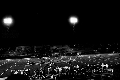 Friday Night Lights B&W