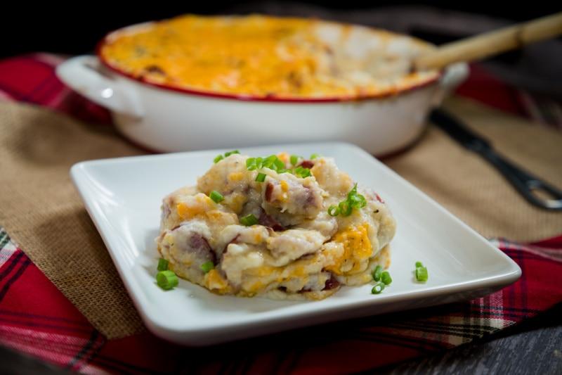 cheesy twice baked kolbassa cauliflower mash