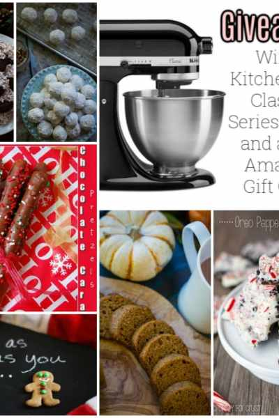 holiday recipes and a kitchen aid mixer giveaway