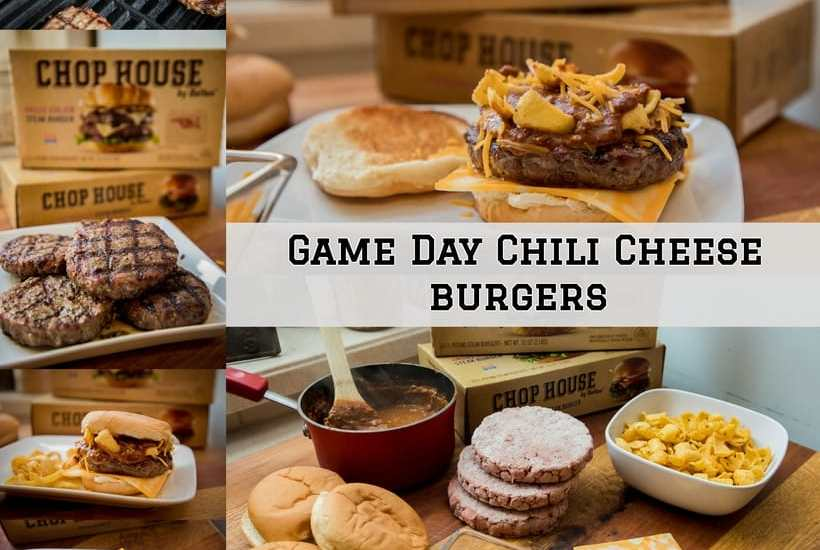 The perfect Game Day chili cheese burger