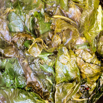 Collard greens with a bit of sweet heat are a must make for fall and should be on every holiday table!