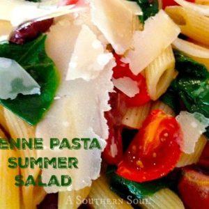 penne pasta summer salad