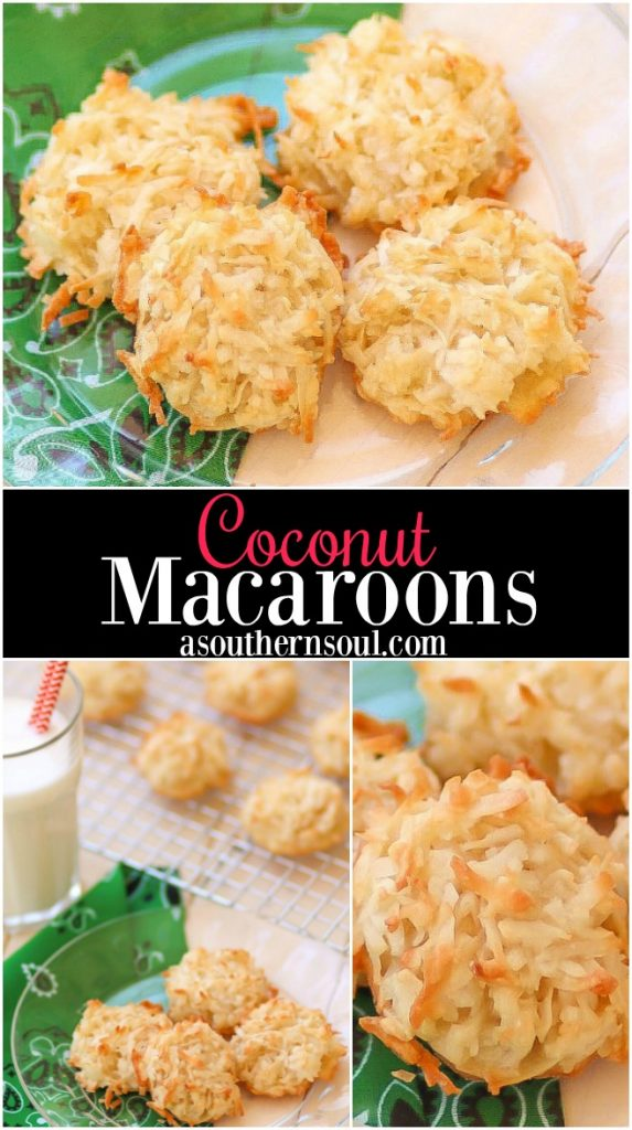 Coconut macaroons made with sugar, flour, vanilla and egg white are cookies that are so easy to make and your family will love.