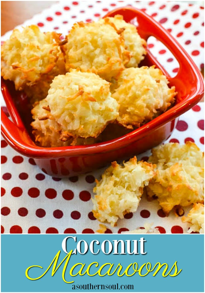 Coconut macaroons made with 5 ingredients are easy to make and a great cookie that everyone will love.