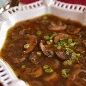 mushrooms soup with no cream