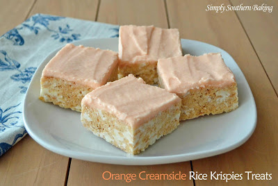 http://simplysouthernbaking.com/2013/orange-creamsicle-rice-krispies-treats/