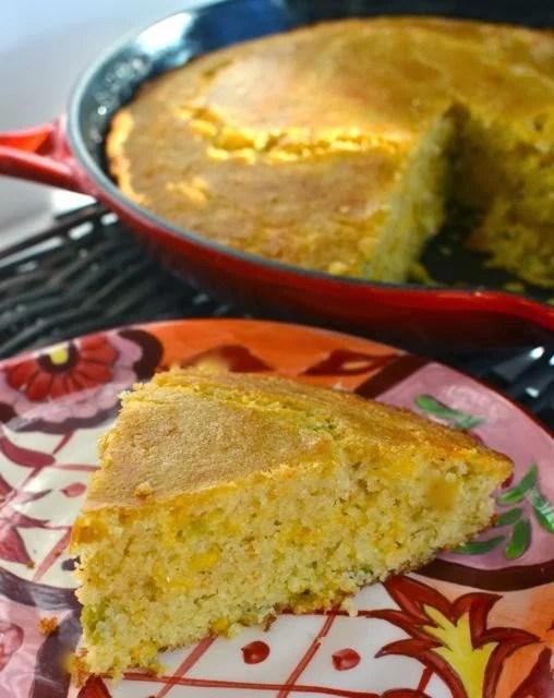 Cheese & Green Chili Cornbread | A Southern Soul