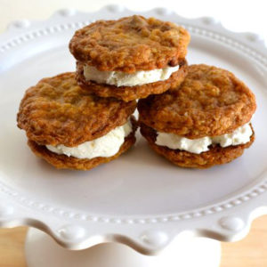 Cinnamon Chip Ice Cream cookies start with a delicious homemade cookie then filled with store bought ice cream.