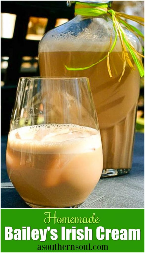 Homemade Bailey's Irish Cream is easy to make and is the perfect addition to your St. Patrick's Day celebration!