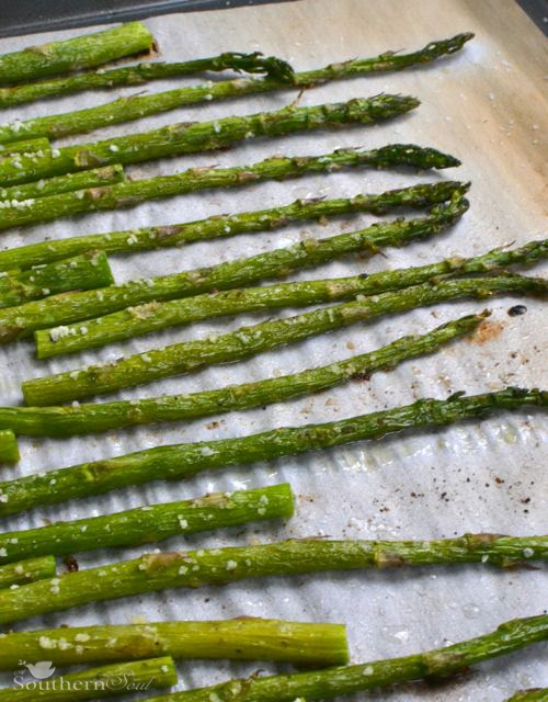 Asparagus with Salt & Pepper | A Southern Soul