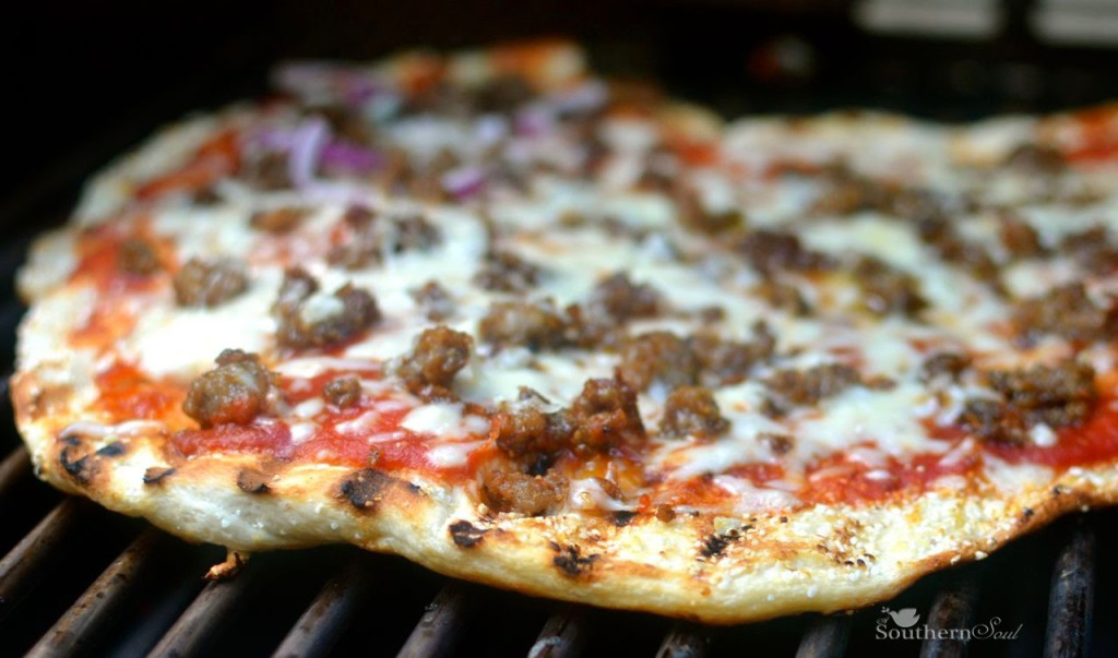 A Southern Soul | Grilled Sausage Pizza