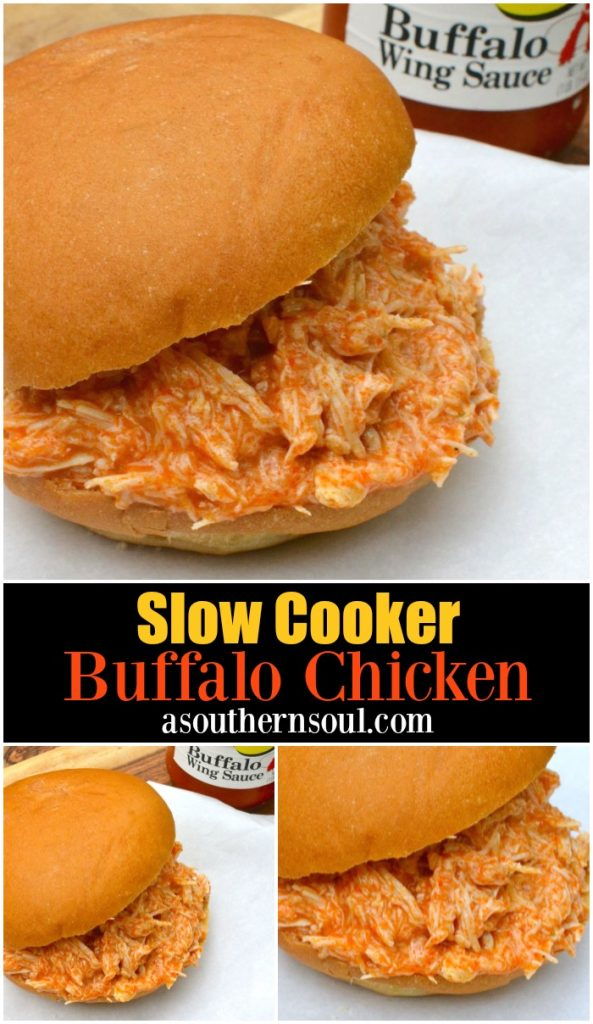 Enjoy this easy to make recipe on sandwiches, in dips or whenever you're looking to amp up the flavor of a baked potato. Buffalo Chicken cooked low and slow in the crock pot is a recipe with so many uses!
