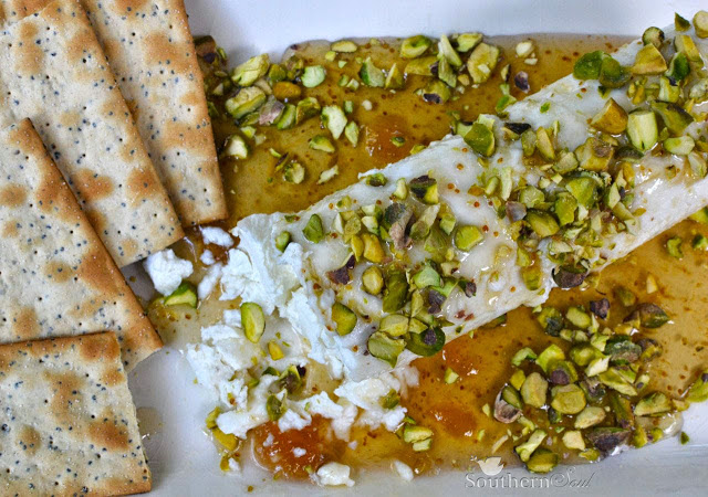Honey & Pistachio Goat Cheese Appetizer can be made in minutes. It's an impressive dish that costs pennies to make and is always a favorite when entertaining.