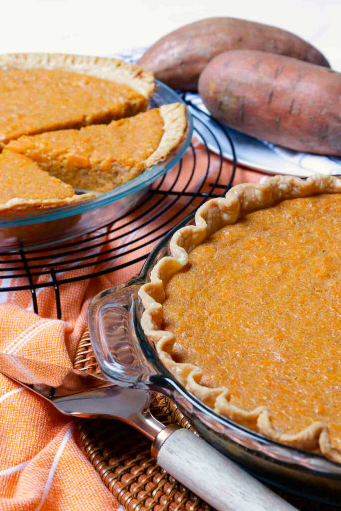 Sweet Potato Pie Image for Pinterest.