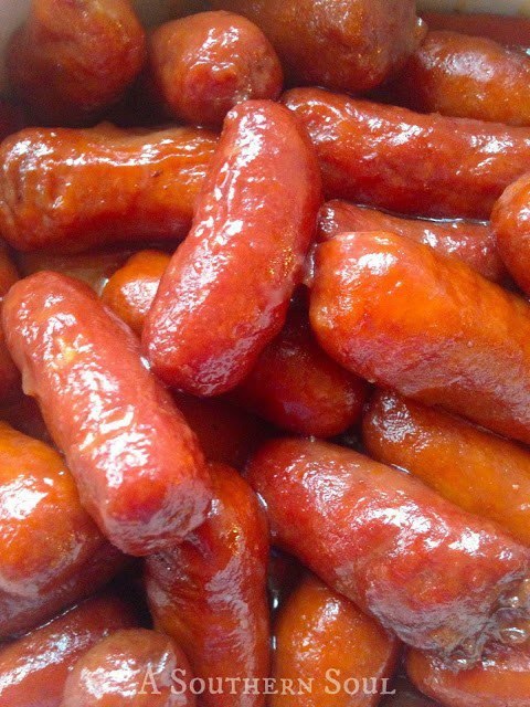 Sweet & Tangy Little Smokies Easy Crockpot Version