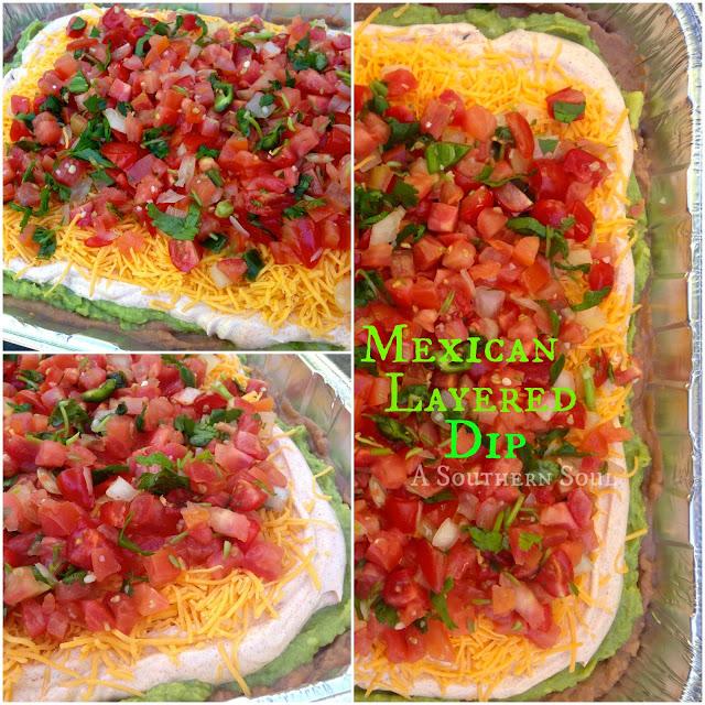 Layered Mexican Dip with Pico de Gallo