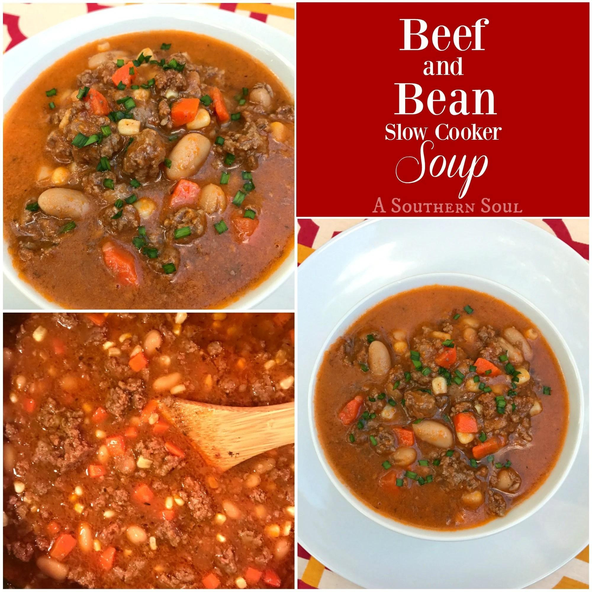 beef & bean crock pot soup