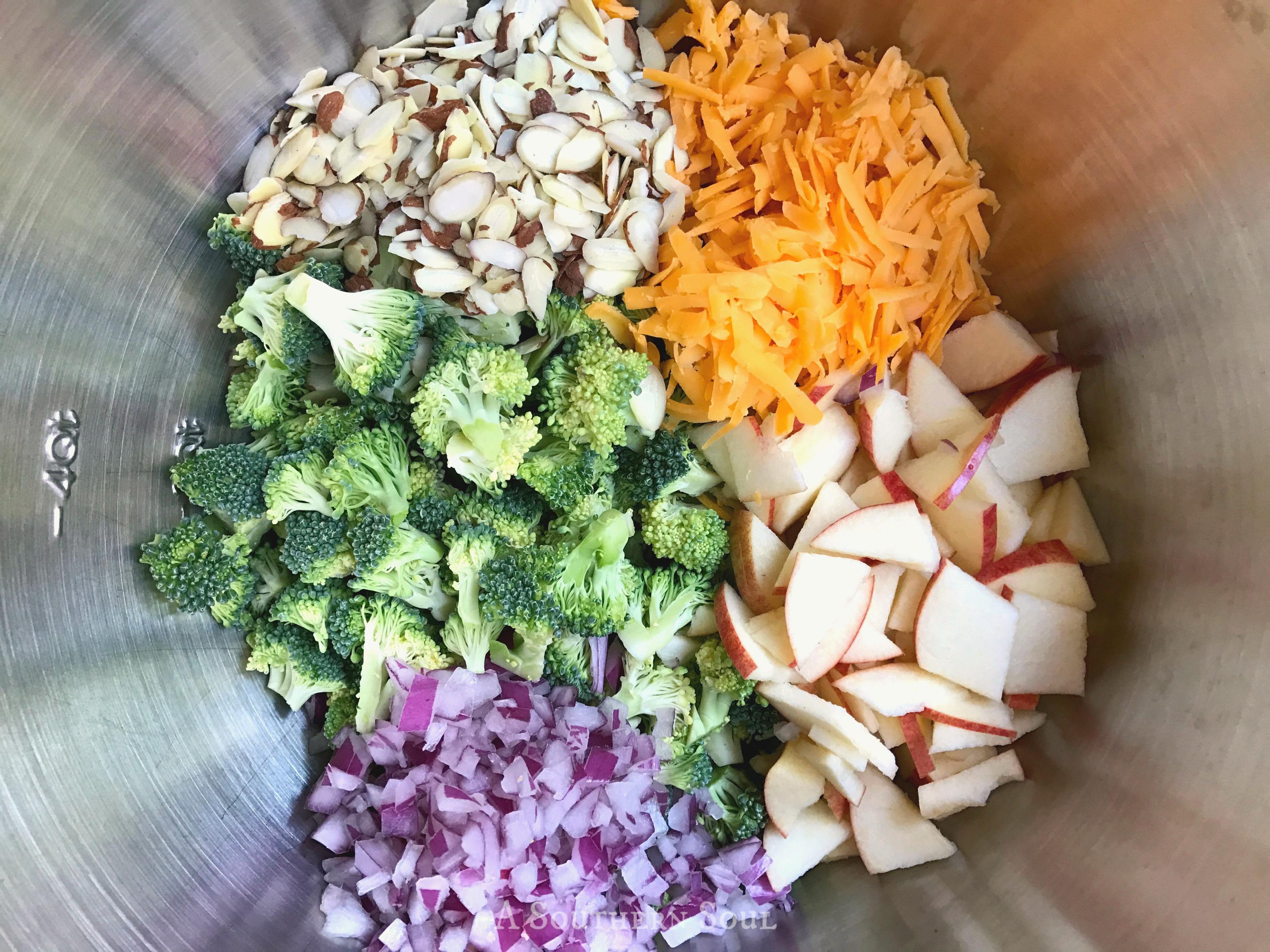 Broccoli Apple Salad Ingredients