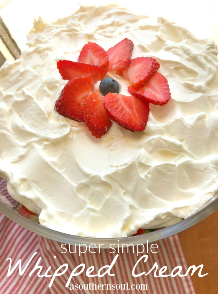 whipped cream super simple