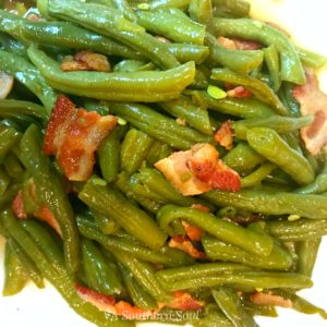southern greenbeans with bacon
