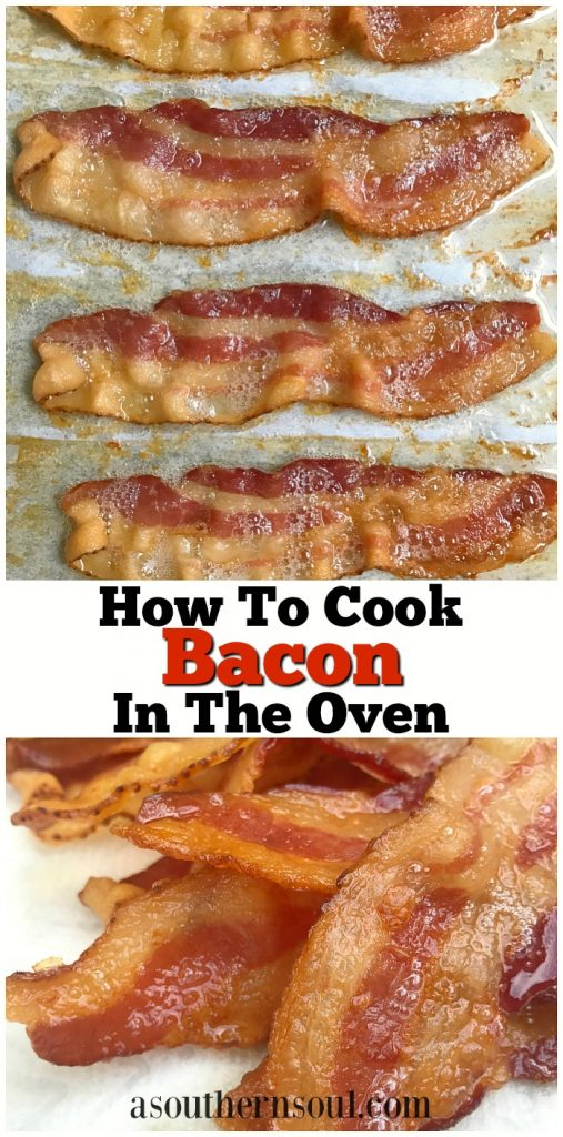 how to cook bacon in oven pinterest link