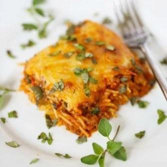 Meal Plan Monday #79 ~ Baked Spaghetti