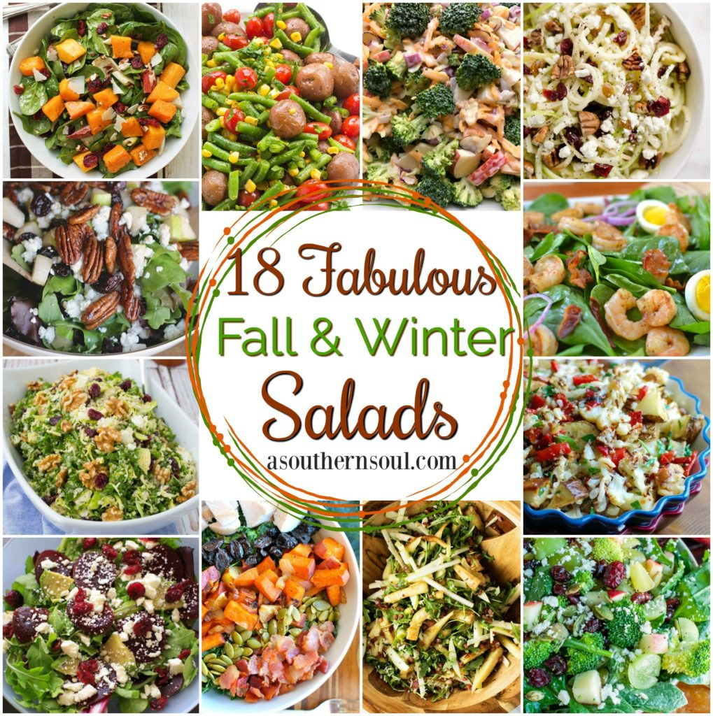 18 Fall Salads Collection 2017 from A Southern Soul