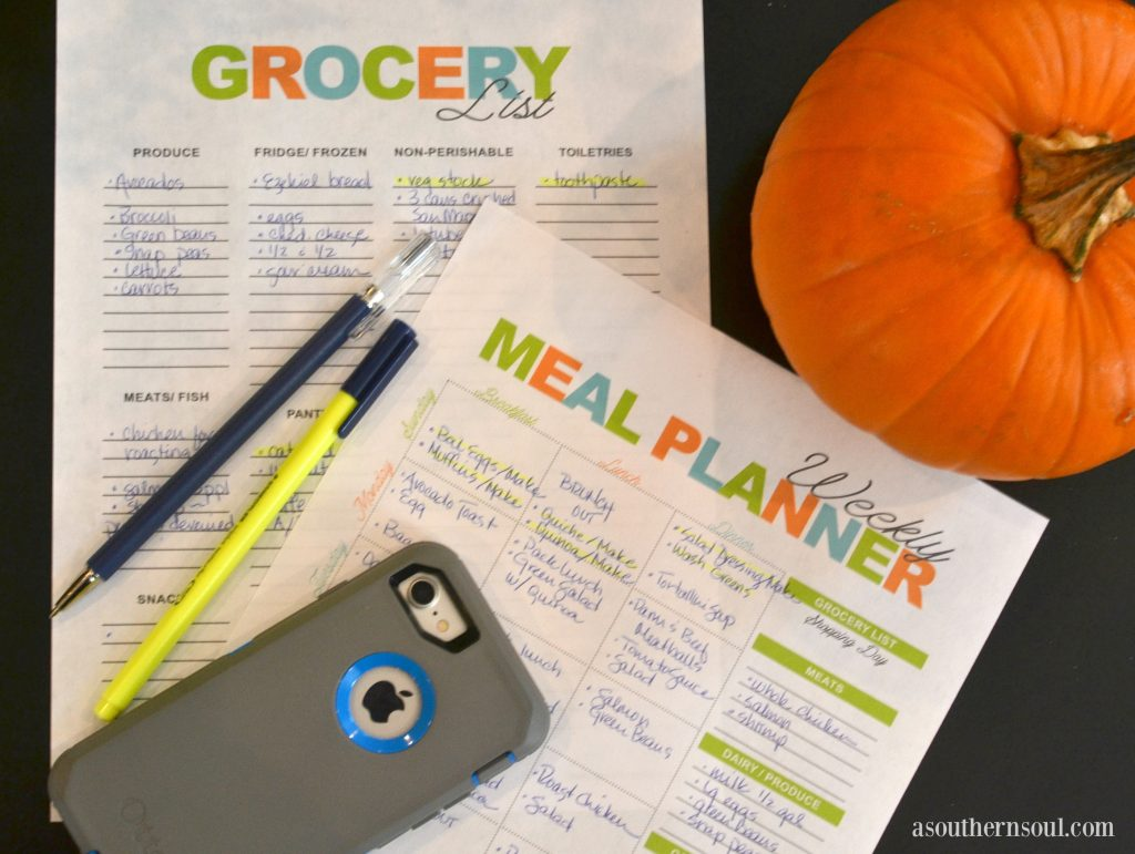 meal planning sheets