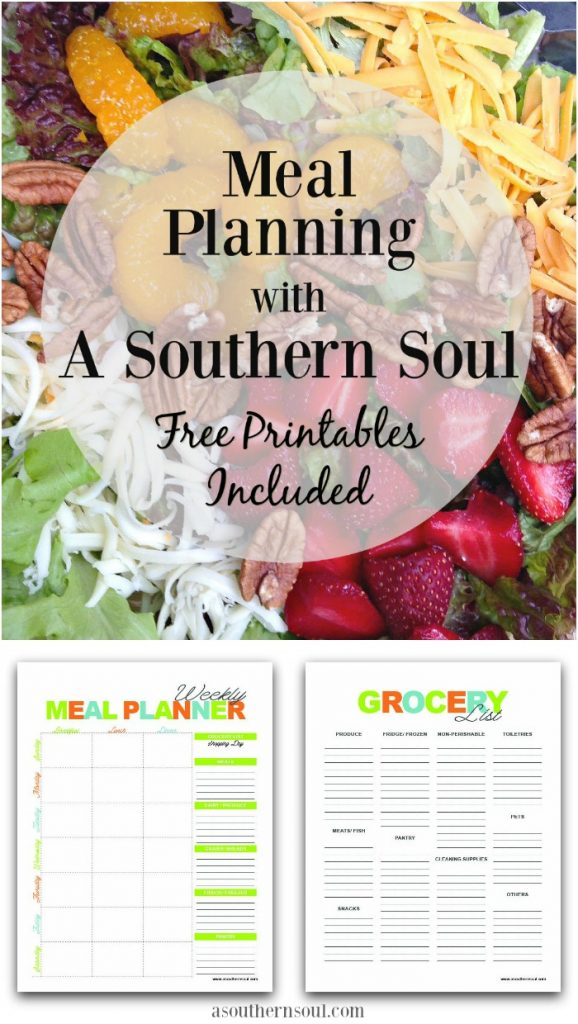 meal planning for beginners and free printables