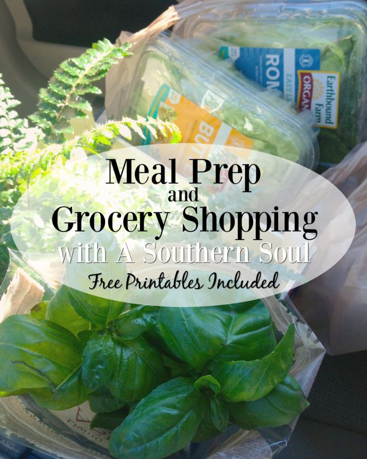 meal prep and grocery shopping with a southern soul