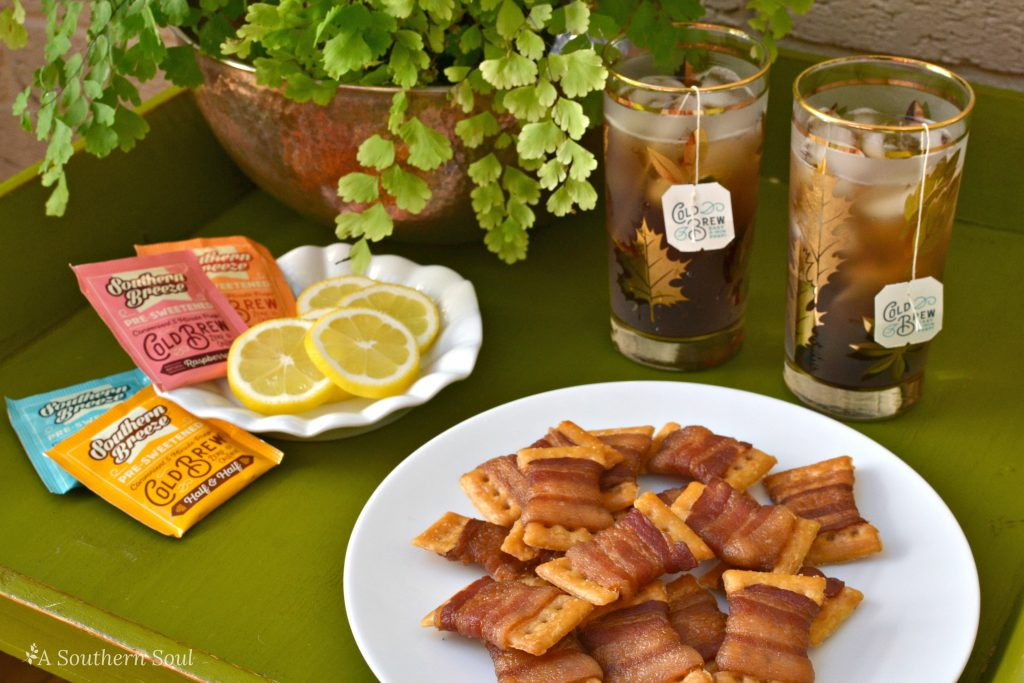 bacon bow tie crackers and southern breeze sweet tea