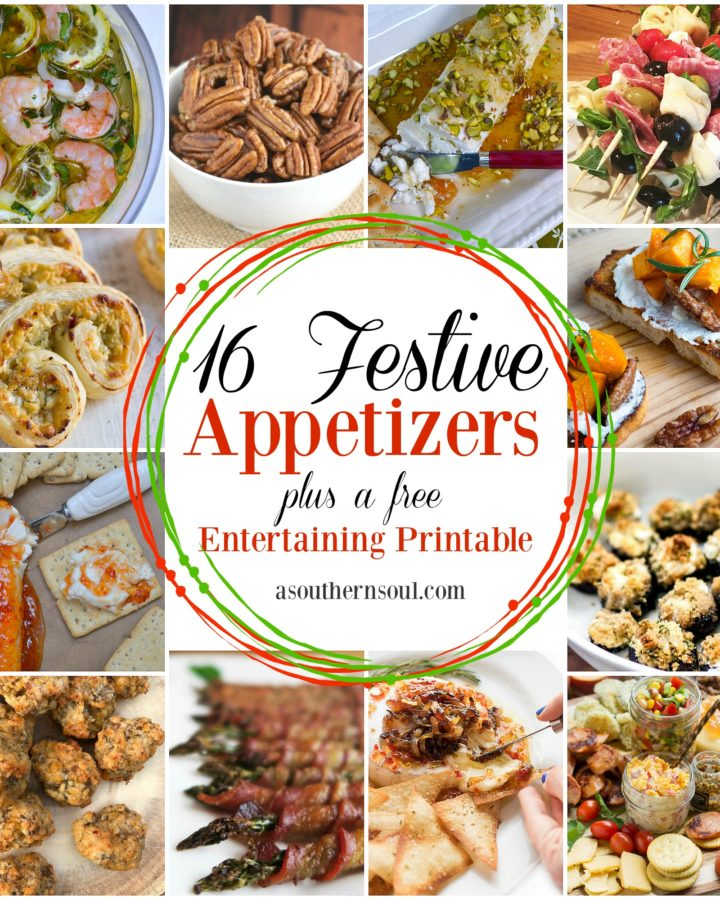 16 festive appetizer recipes