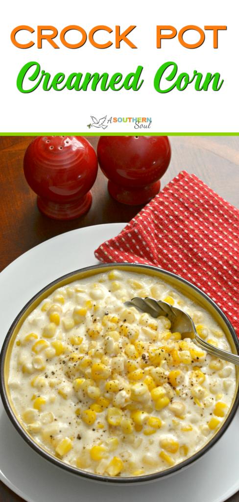 crCeamed corn from crock pot