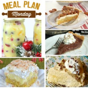 meal plan monday thanksgiving desserts