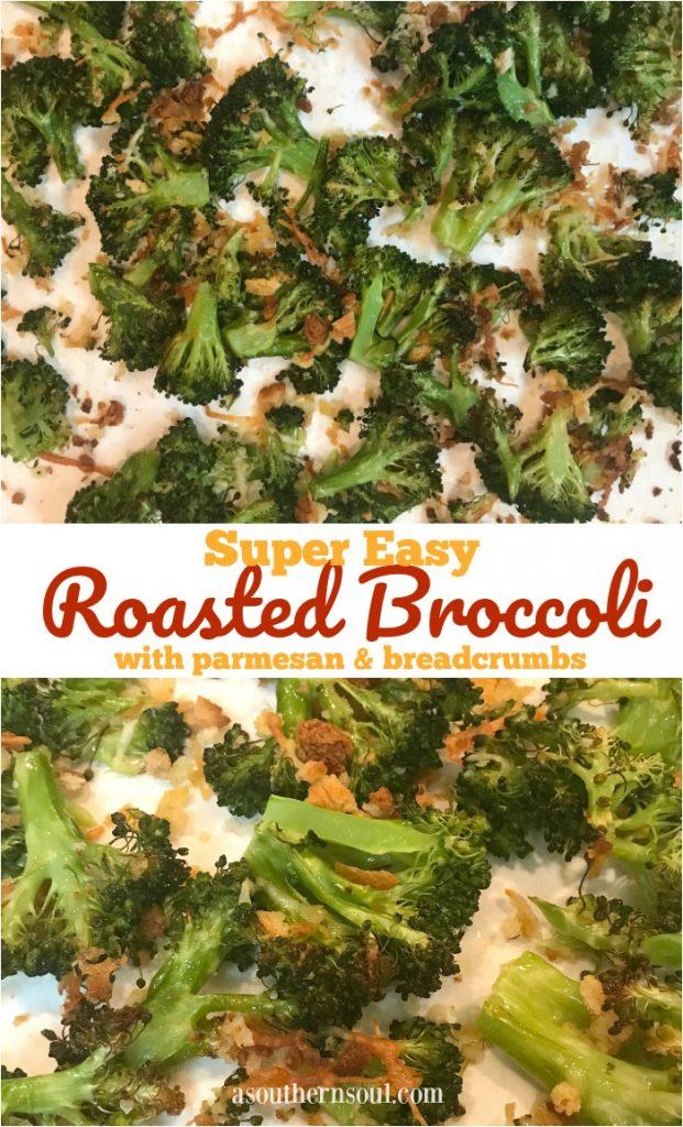 super easy roasted broccoli PIN