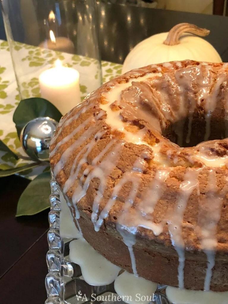 eggnog pound cake for the holidays