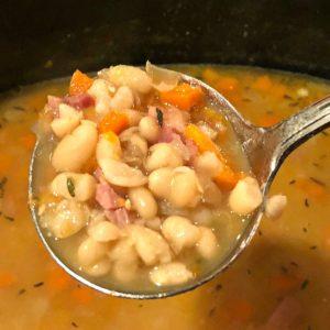 ham and bean soup crock pot