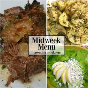 midweek menu#3 pot roast