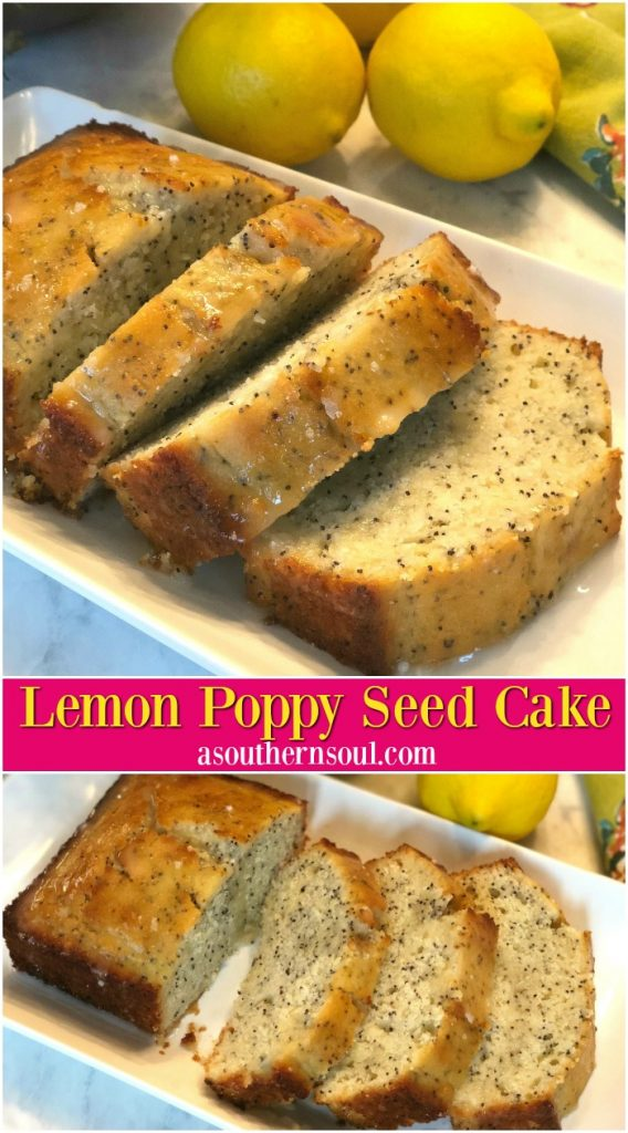 poppy seed cake with lemon juice and lemon zest