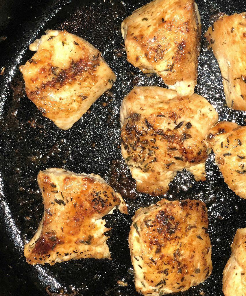 seared chicken, skillet chicken spaghetti with cheese