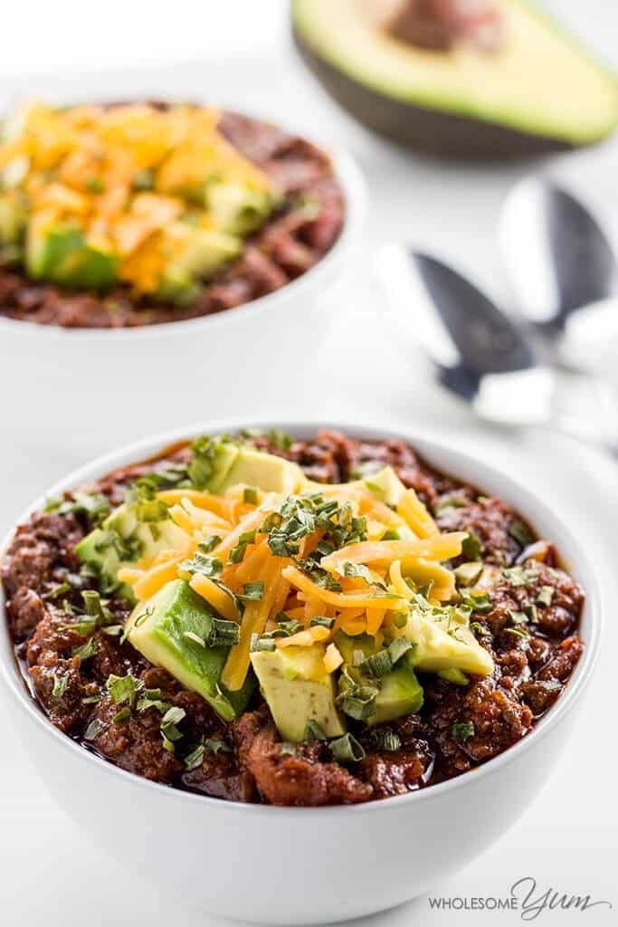 20 out of this world chili, low carb, keto