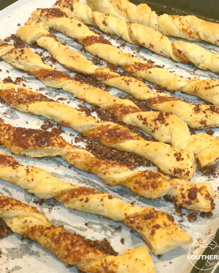 puffed pastry cheese straws
