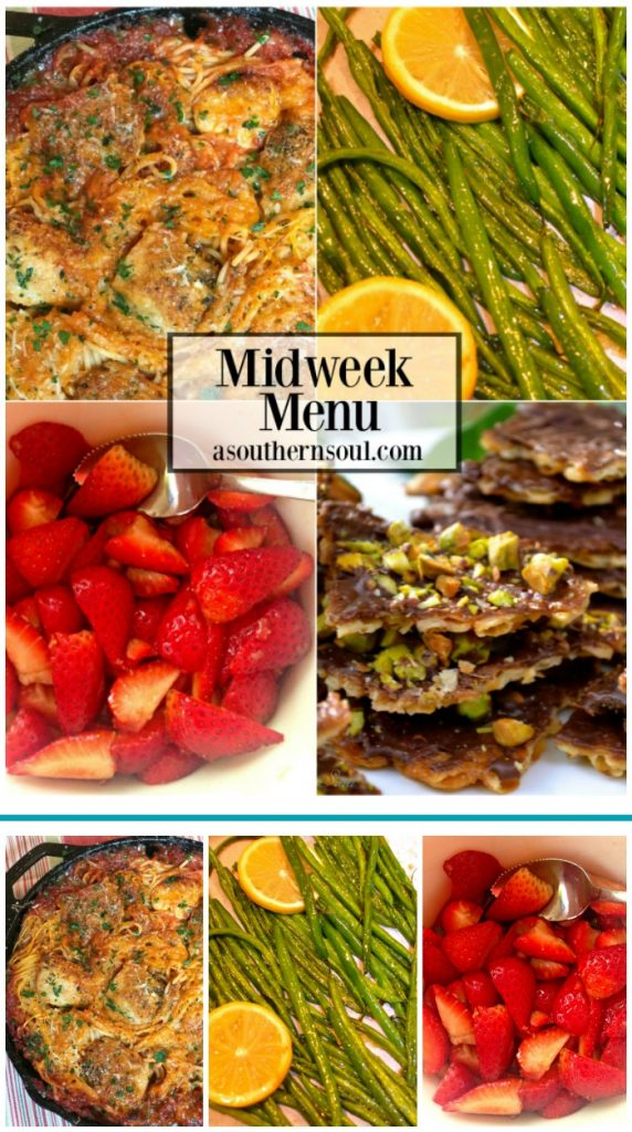 midweek menu with 4 easy to make recipes by a southern soul