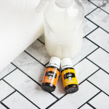 homemade window cleaner with essential oils